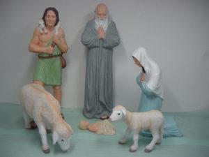G36.-krippe.vallásos figurák