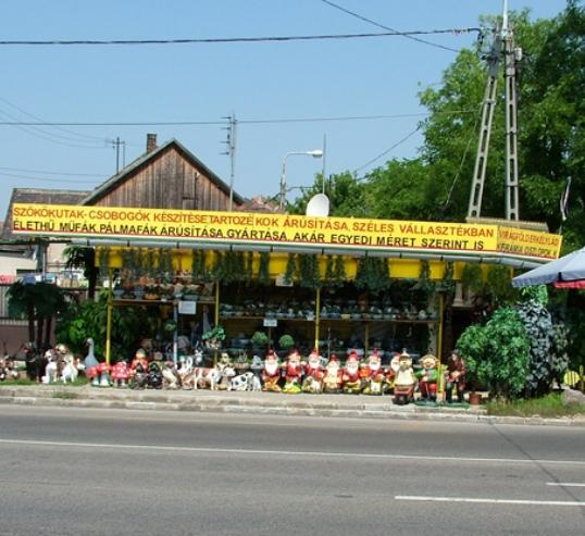 Csobogó dekorációk üzlet